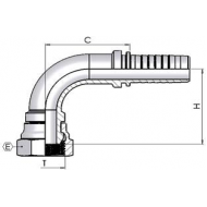 "1/4"" BSP Female Swept 90 x 1/4"" Hose"