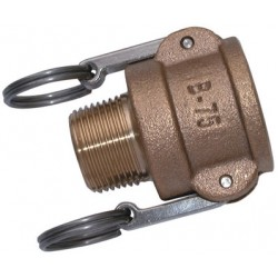 BSPT Male Threaded Lever Coupling Brass