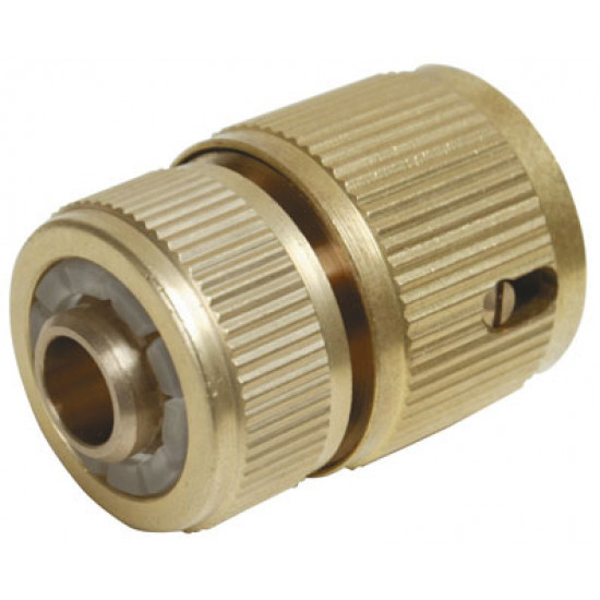 Brass Quick Connector with Auto Stop