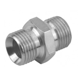 "1/4"" BSPP x 1/4"" BSPP Equal Male/Male Stainless Steel Adaptor"