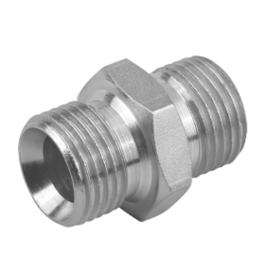 "1/4"" BSPP x 1/4"" BSPP Equal Male/Male Adaptor"