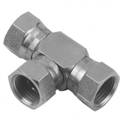 "1/4"" BSPP Female/Female/Female Stainless Steel Swivel Tee"