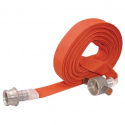 64mm Layflat Fire Fighting Hose Ribblelite Type 2 with Couplings