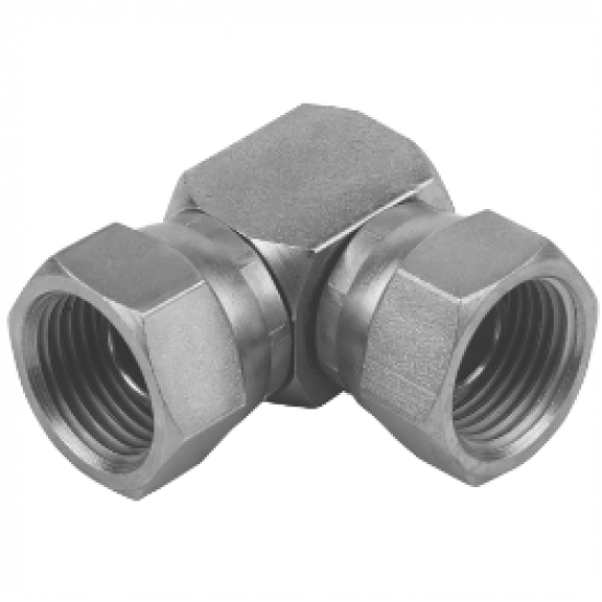 "1/4"" BSPP Female Swivel x 1/4"" BSPP Female Swivel Compact Elbow"