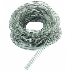 Galvanised Steel Spring Hose Protection 24mm I/D x 28mm O/D (2mm Wire) x 10 Mtr