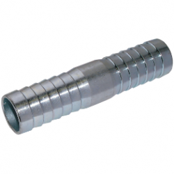 "Steel Plated Hose Connector to suit 3/8"" I/D Hose"