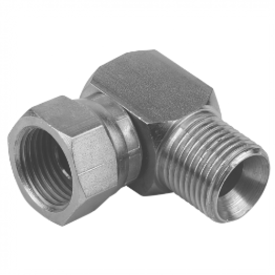 "1/2"" BSPP x 1/2"" BSPP Male/Female Swivel Compact Elbow"