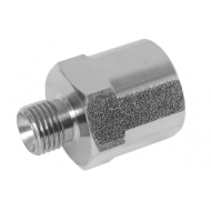 "1/8"" BSPP Male x 1/8"" BSPP Female Fixed Stainless Steel Adaptor"