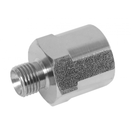 "1"" BSPP Male x 1"" BSPP Female Fixed Stainless Steel Adaptor"