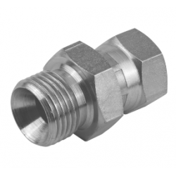 "1/4"" BSPP Male x 1/8"" BSPP Female Swivel Stainless Steel Adaptor"