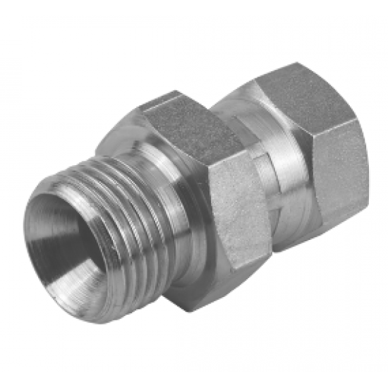 "3/4"" BSPP Male x 3/4"" BSPP Female Swivel Stainless Steel Adaptor"