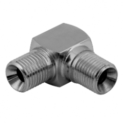 "1/4"" BSPP x 1/4"" BSPP Male/Male Compact Stainless Steel Elbow"