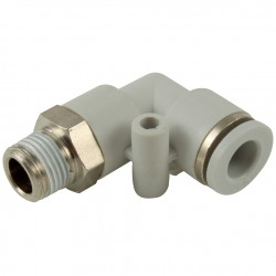 Push In Male Stud Swivel Elbow M5 x 4mm O/D