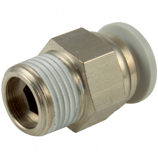 "Push In Male Stud Tapered 1/4"" BSPT x 4 O/D"