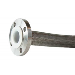 "1/2"" Smooth Bore PTFE c/w Single Stainless Steel Braid"