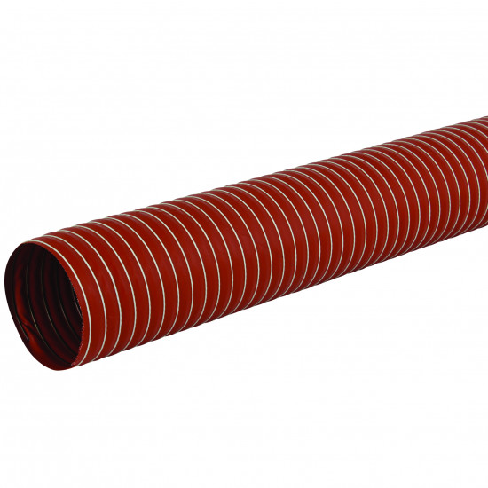 76mm I/D Single Ply Silicone Coated Glass Fabric Ducting