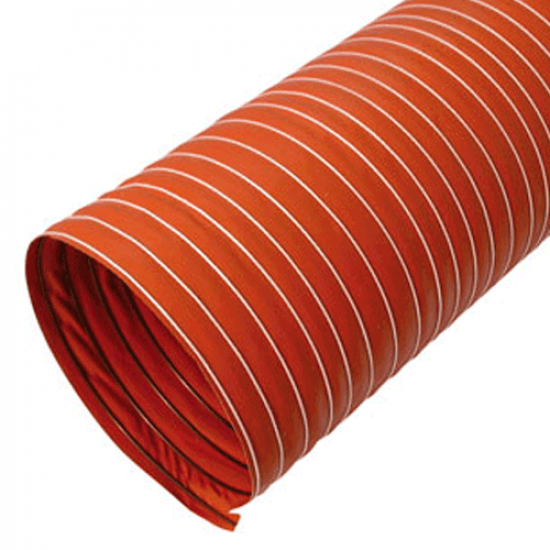 Single Ply Silicone Coated Glass Fabric Ducting