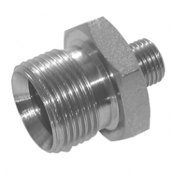 "1/8"" BSPP x 1/4"" BSPP Un Equal Male/Male Stainless Steel Adaptor"